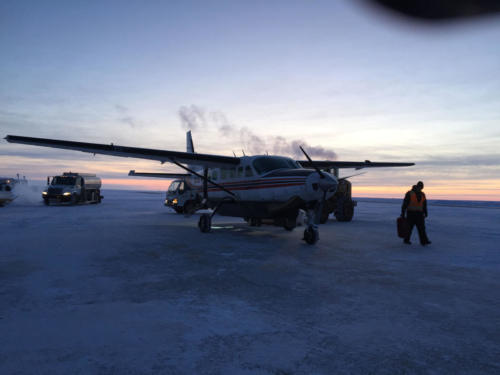 Take airplane from Utqiagvik to Wainwright, 2/13/2020